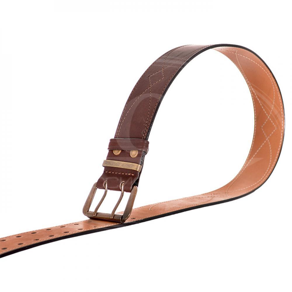 Ремень брючный коричневый 50 мм