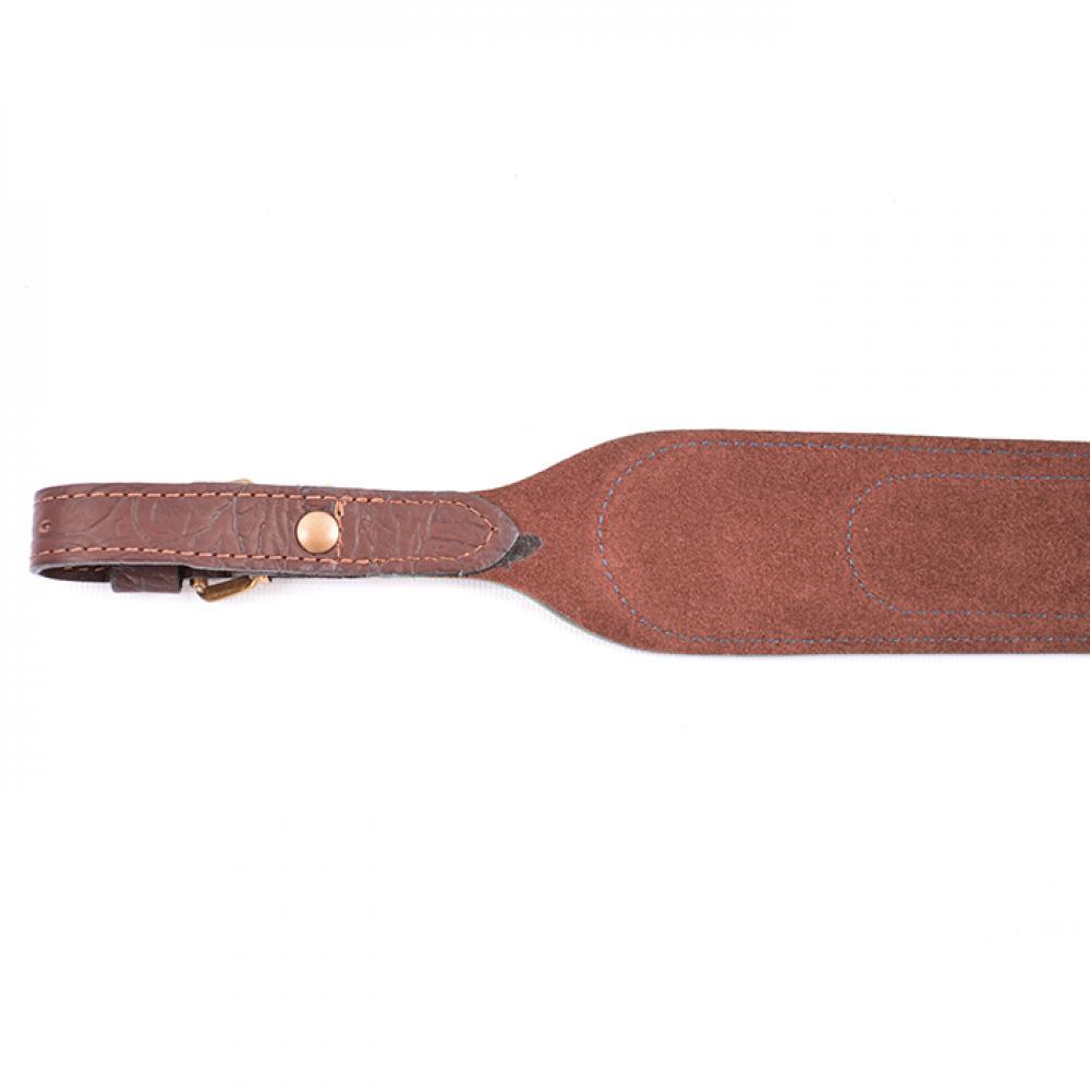 Ремень ружейный фигурный (кожа/велюр)