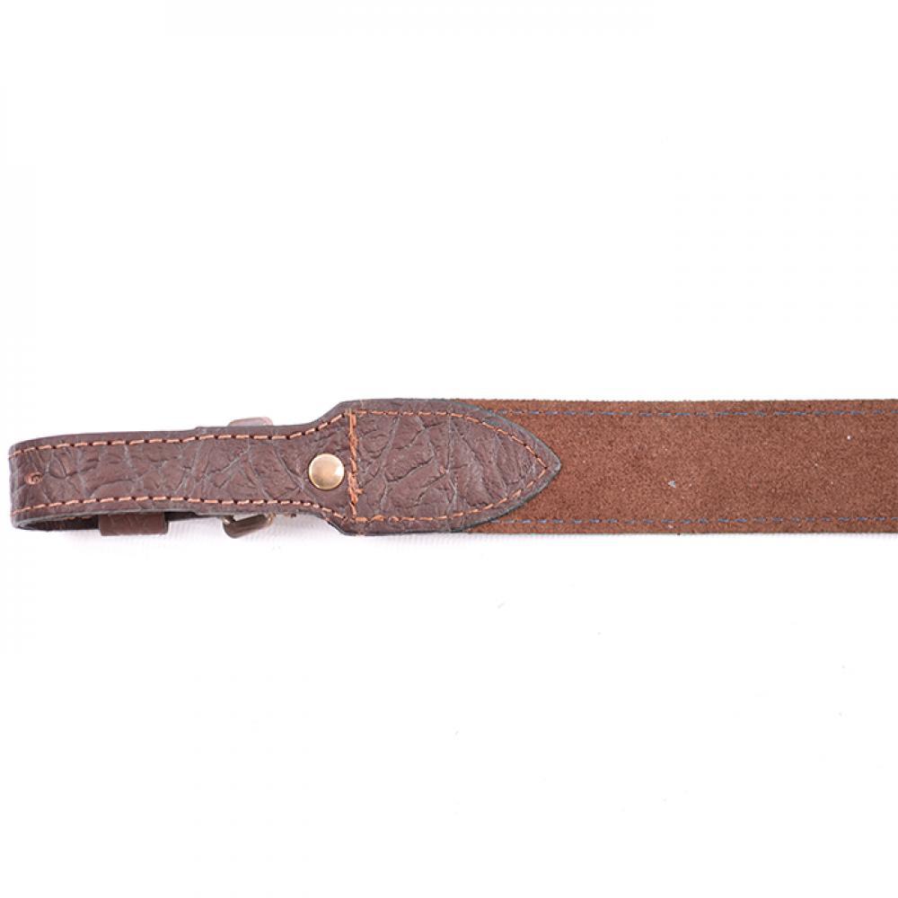 Ремень ружейный прямой 35 мм (кожа/велюр)
