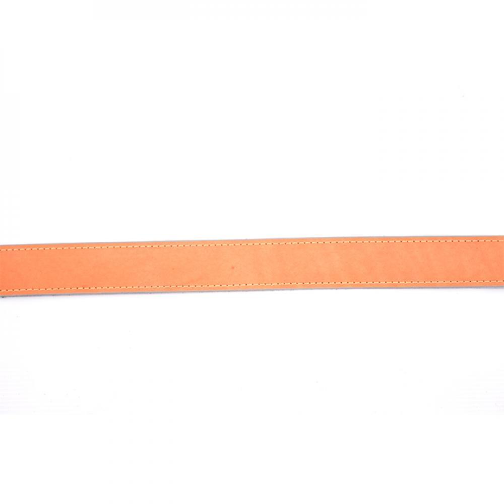 Ремень ружейный прямой 35 мм кожа/велюр (I)