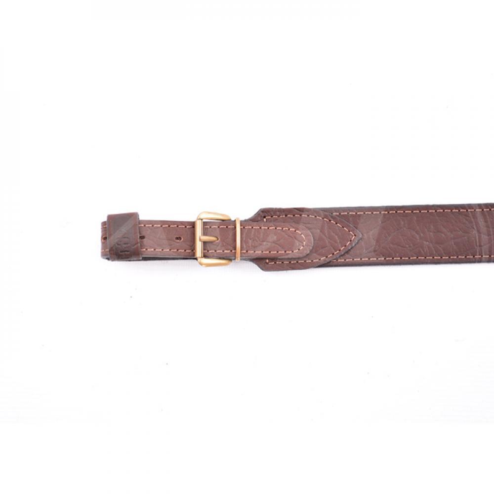 Ремень ружейный регулируемый (кожа/кожа)
