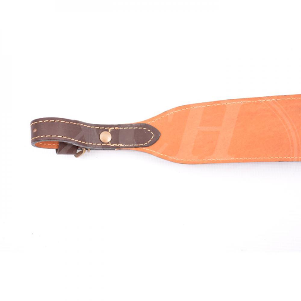 Ремень ружейный фигурный с петлей с пряжкой гладкая кожа (IV)