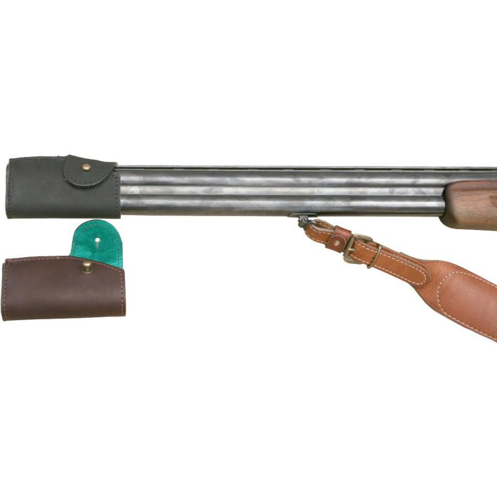Чехол на дульный срез двуствольного ружья (коричневый)