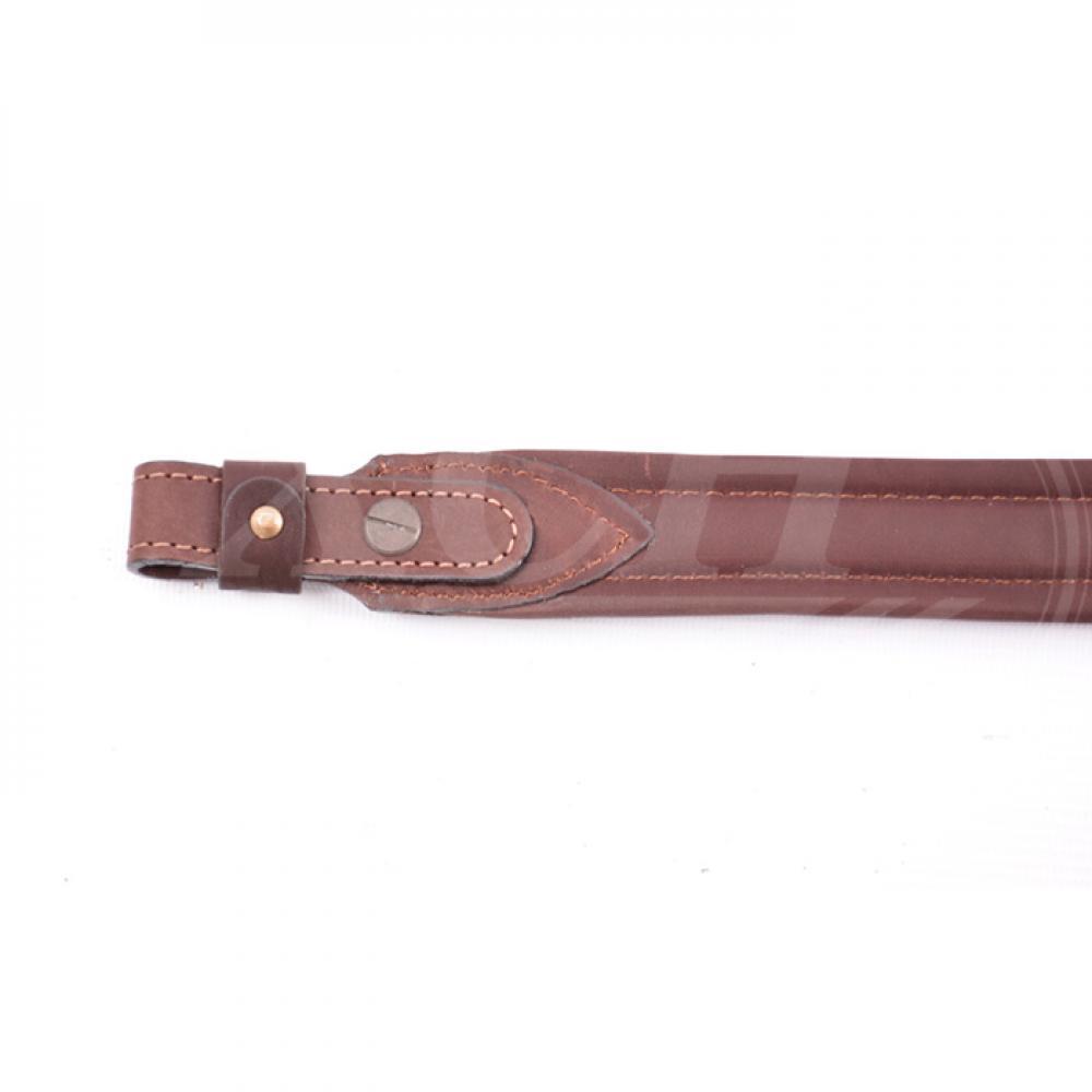 Ремень ружейный прямой 35 мм кожа/ППЭ винт/с (VIP)