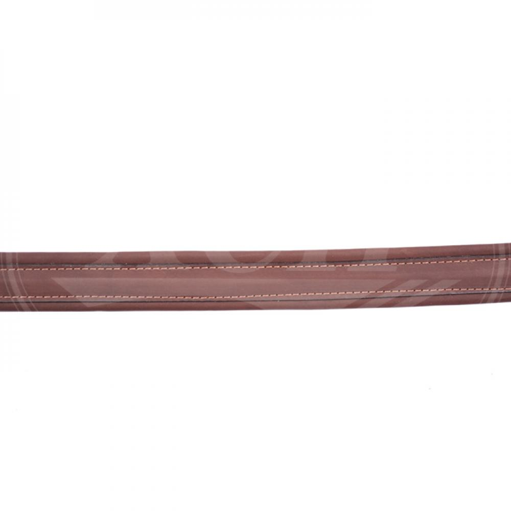 Ремень ружейный прямой 35 мм кожа/ППЭ с пряжкой (VIP)