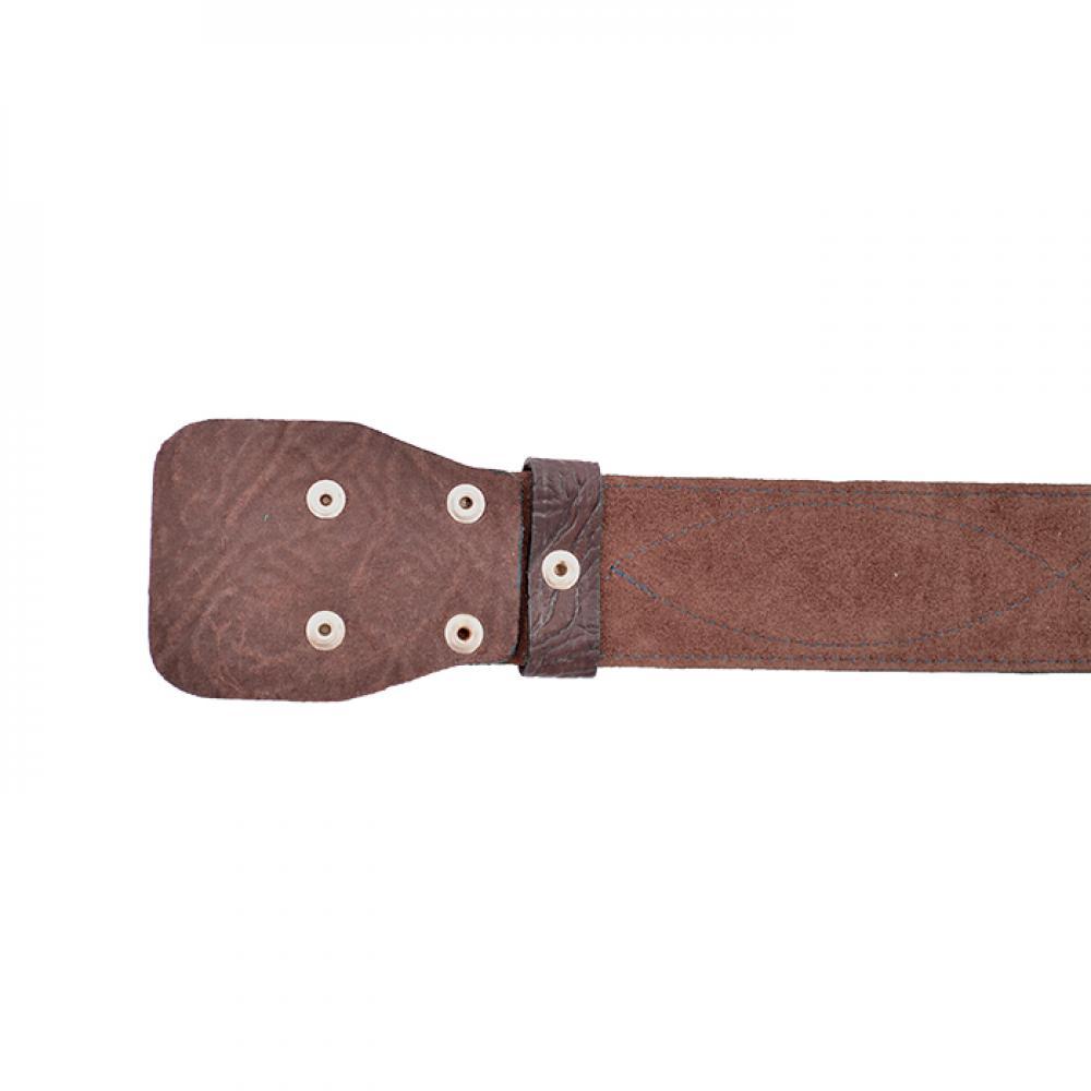 Ремень офицерский элитный коричневый быстроотстегивающийся 50 мм кожа/велюр (№ 5 - 7)