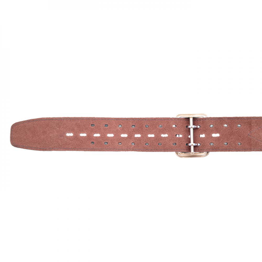 Ремень офицерский элитный коричневый быстроотстегивающийся 50 мм кожа/велюр (№ 1 - 4)