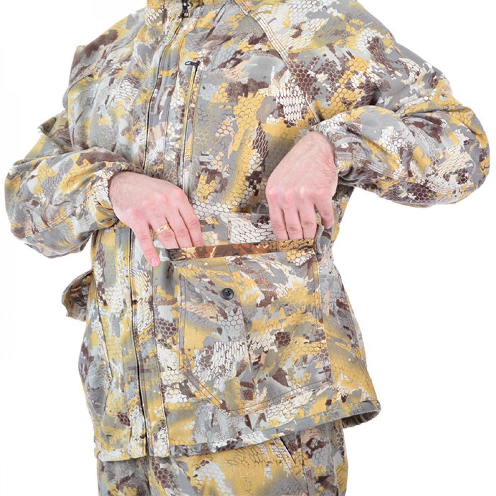 Костюм мужской летний Кречет (соты бело-желтые)