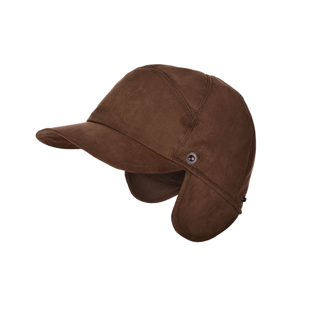 "Бейсболка с маской ""Suede Hat +"" (Brown) Коллекция ""Шаман"""
