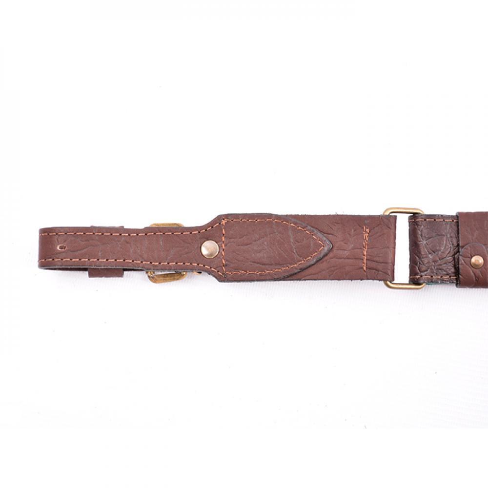 Ремень АКМ - 35 (кожа/велюр с пряжкой)