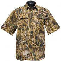 """Рубашка с коротким рукавом """"Фазан"""" (камыш)"""