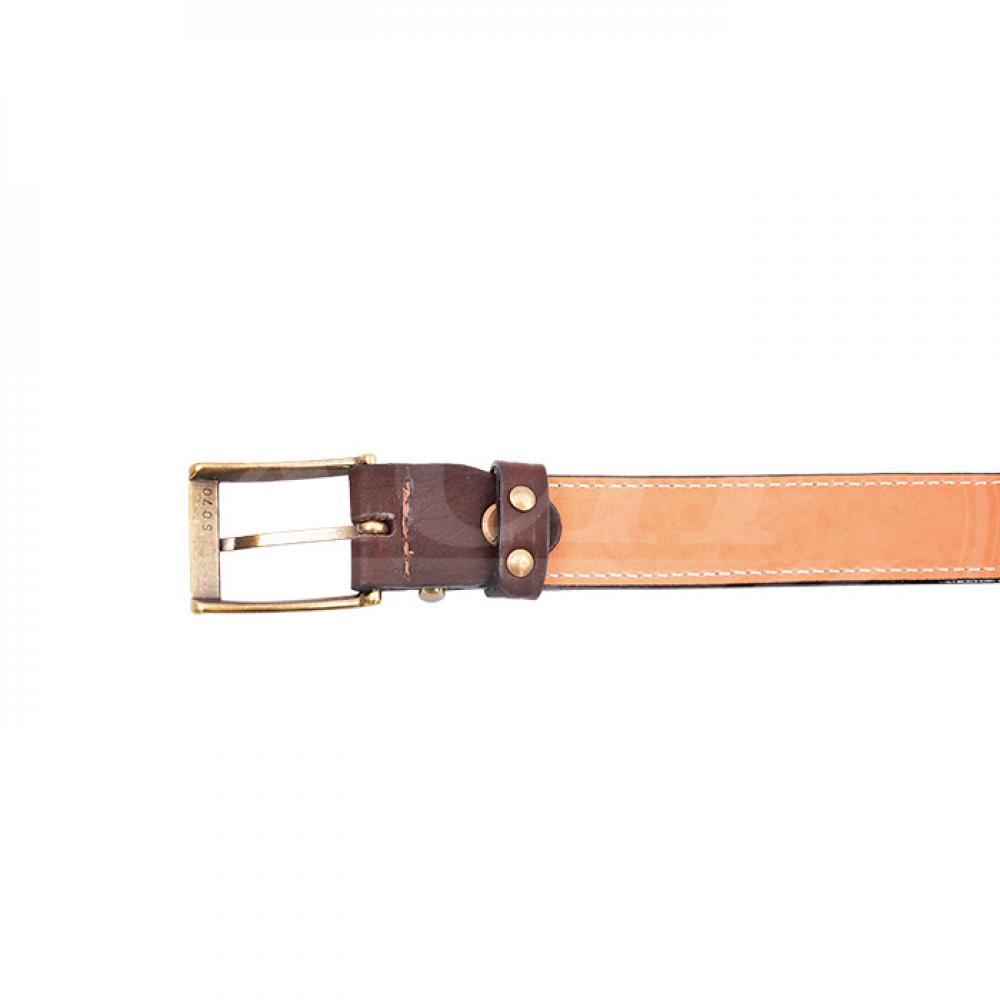 Ремень охотника брючный коричневый 30 мм