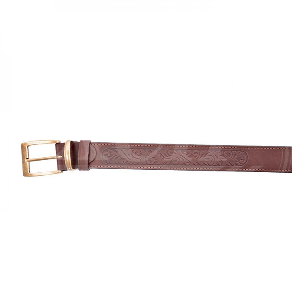 Ремень охотника брючный коричневый 35 мм