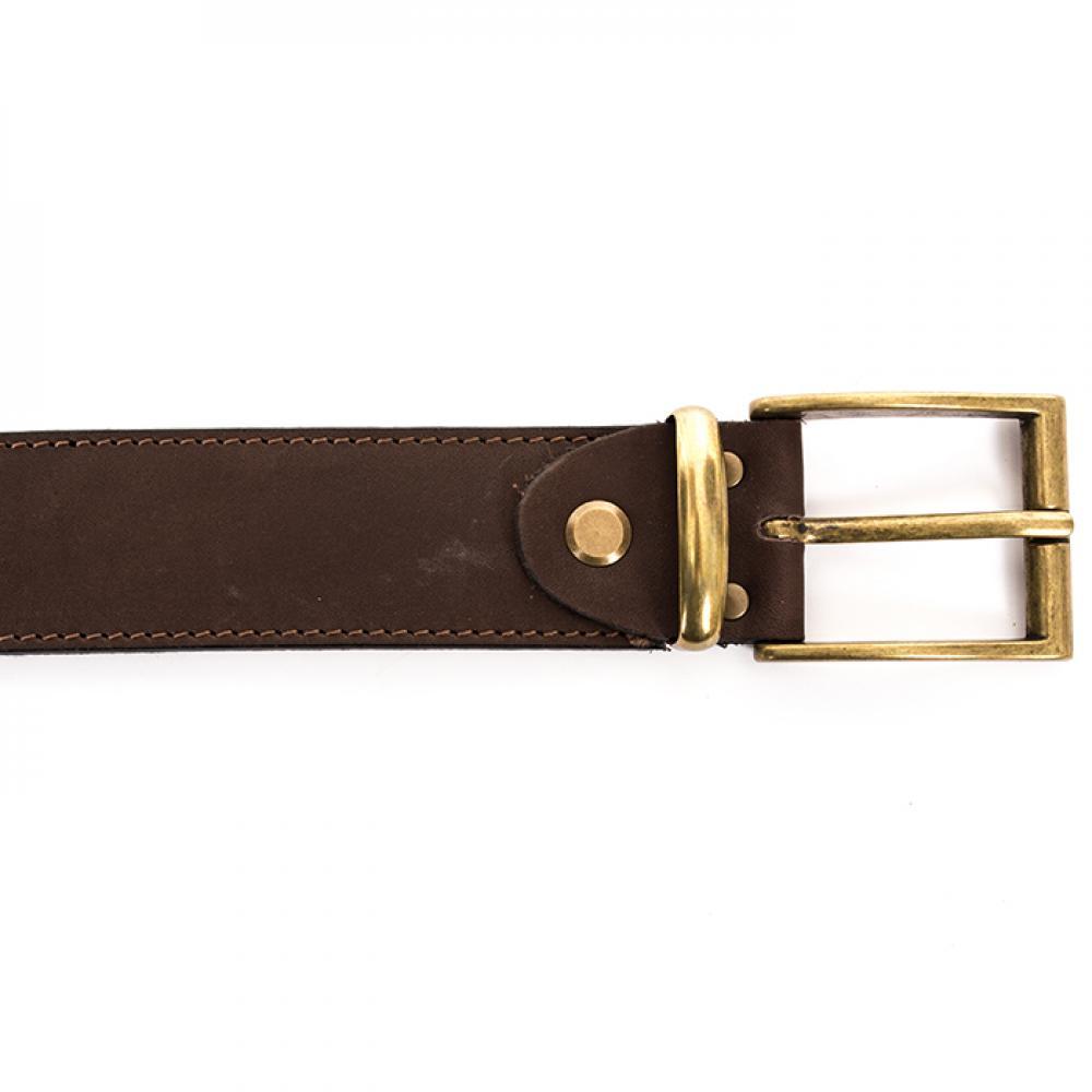 Ремень охотника брючный коричневый 40 мм