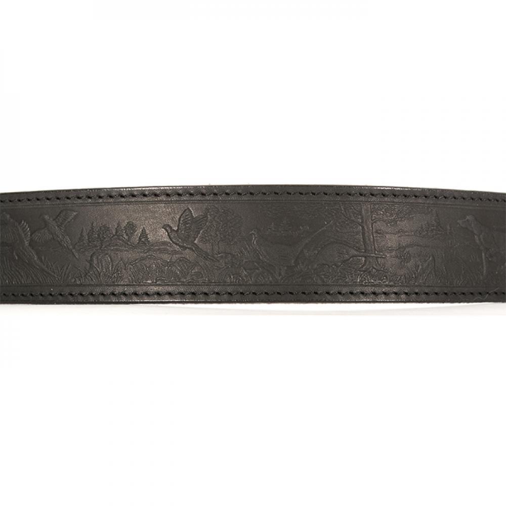 Ремень охотника брючный черный 40 мм