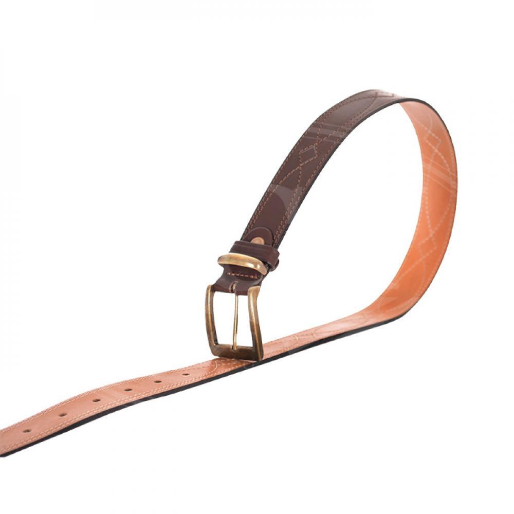 Ремень брючный коричневый 35 мм