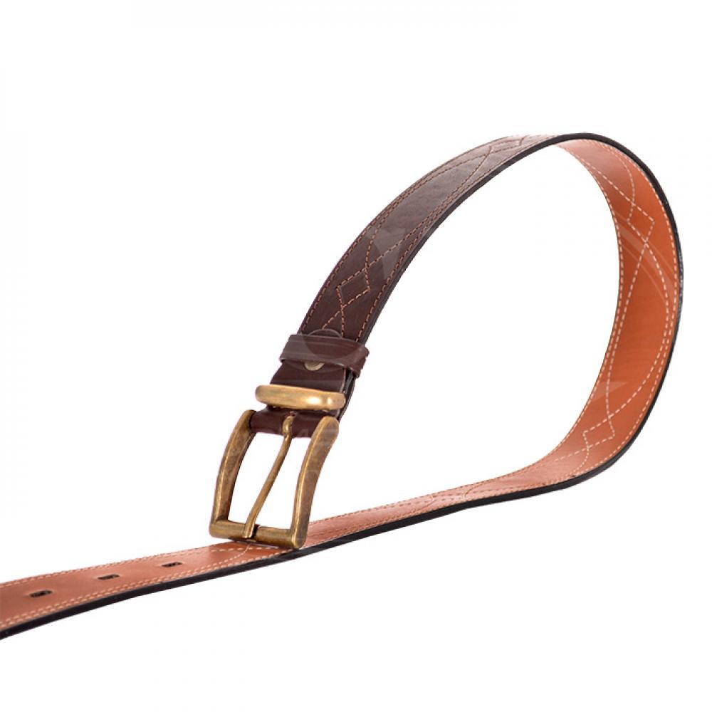 Ремень брючный коричневый 40 мм