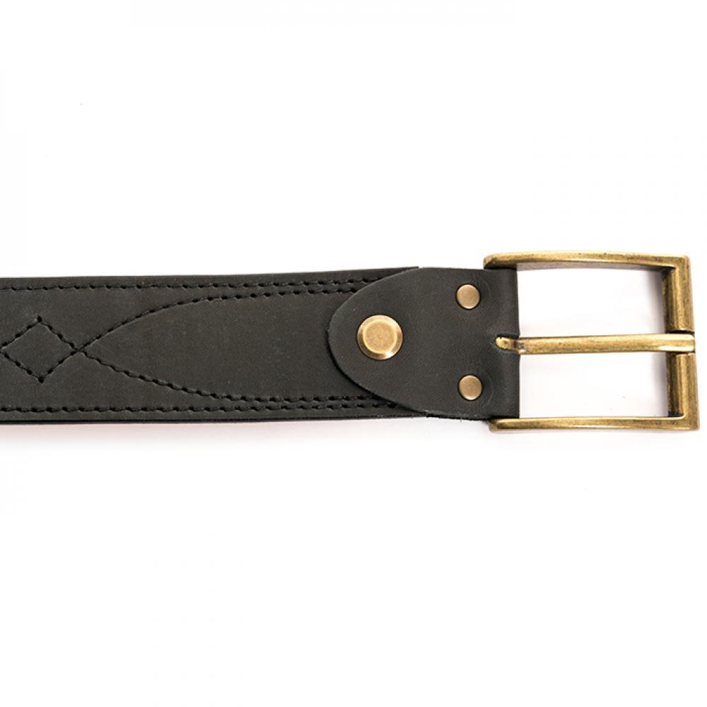 Ремень брючный чёрный 40 мм
